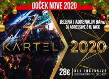 Docek Nove godine 2020 Beograd Splav Kartel baner