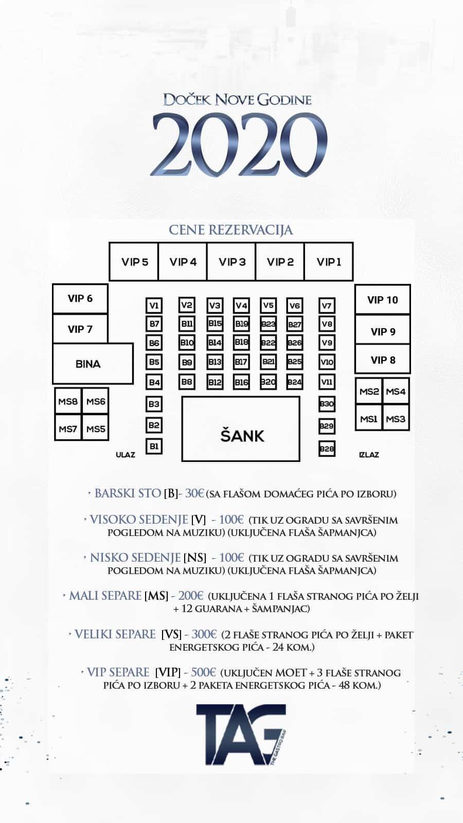 Docek Nove godine 2020 Beograd Splav Tag nova mapa