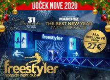 Docek Nove godine Beograd 2020 splav Freestyler baner