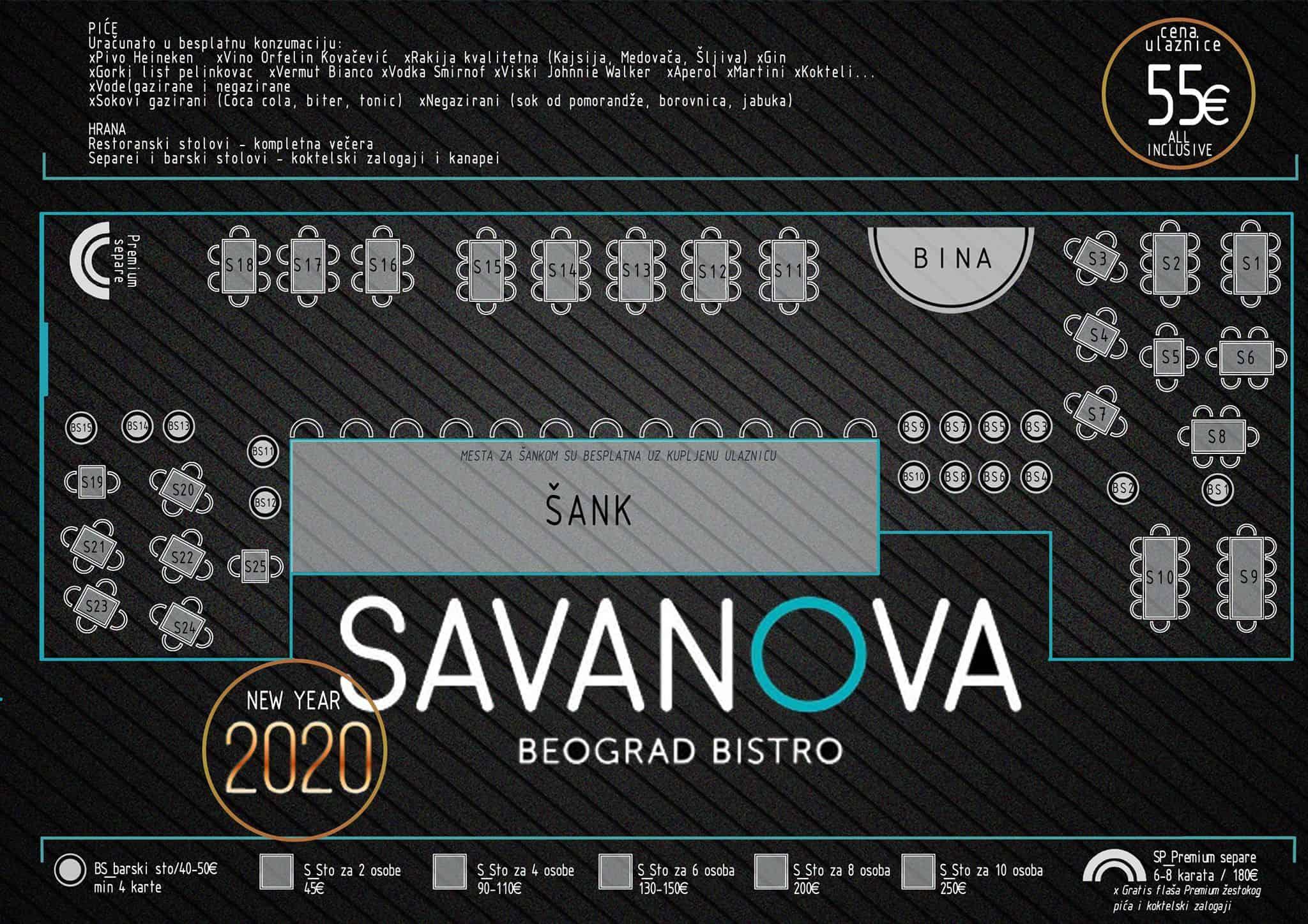 Docek Nove godine 2020 Beograd Savanova mapa