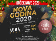 Docek Nove godine Beograd 2020 Corba Kafe baner