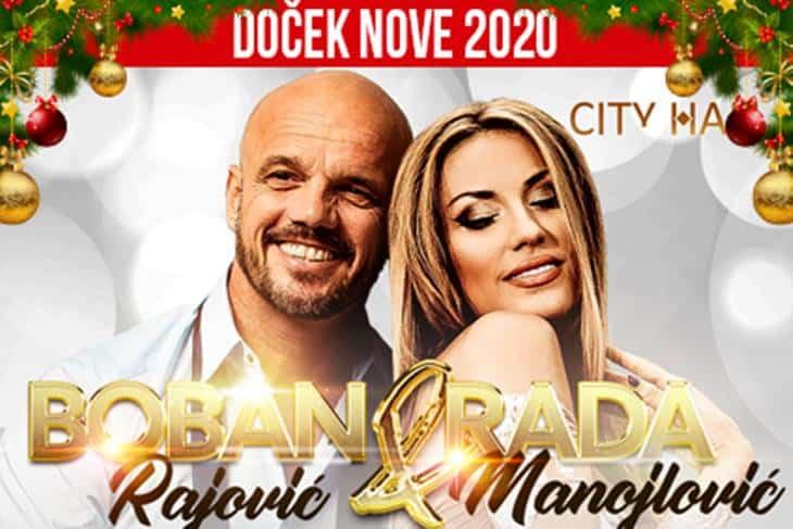 Boban Rajović i Rada Manojlović doček Nove godine 2020.