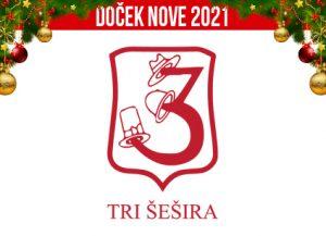 Restoran Tri Šešira Skadarlija doček Nove godine 2021 Beograd