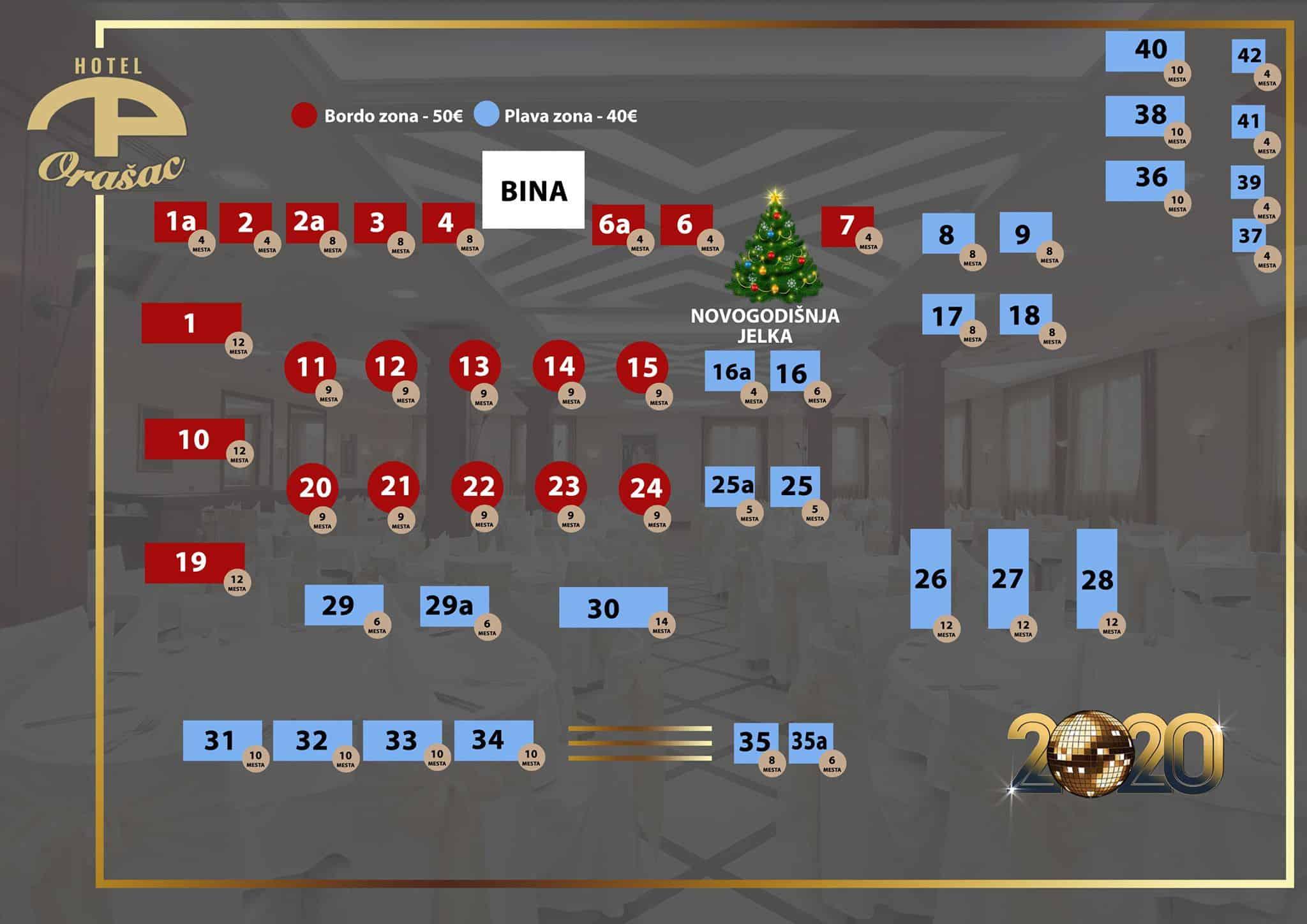 Docek Nove godine 2020 Beograd Hotel Orasac mapa