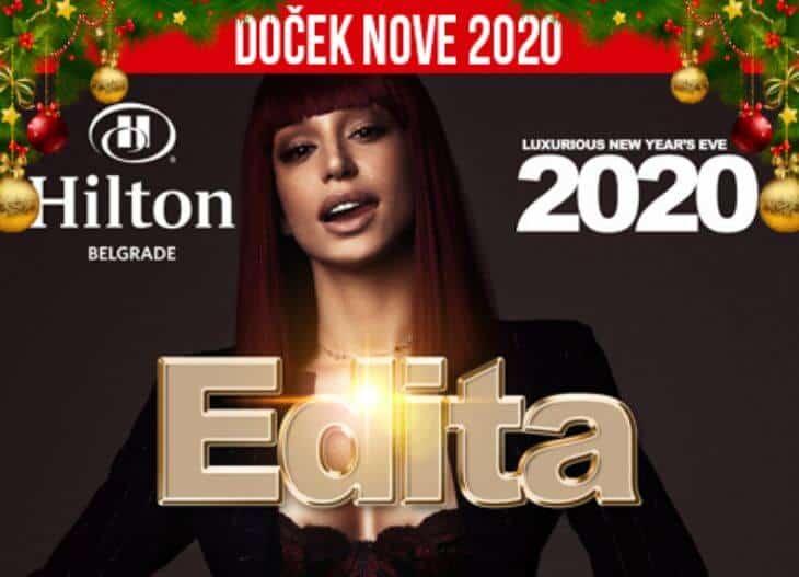Edita Aradinović doček Nove godine 2020 hotel Hilton