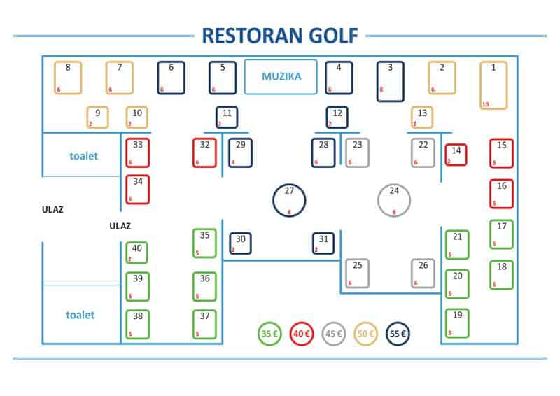 Docek Nove godine 2020 Beograd Restoran Golf Mapa