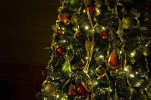 Fotografija ukrašene novogodišnje jelke
