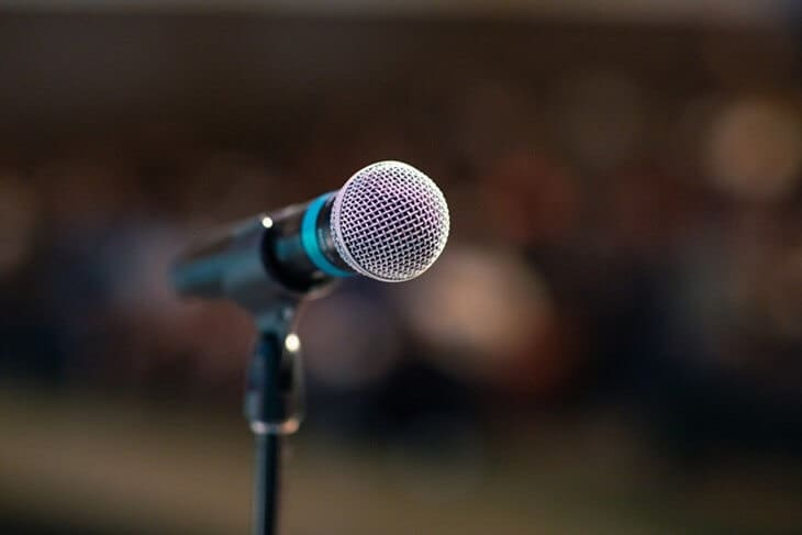Mikrofon na bini