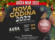 Čorba Kafe doček Nove godine 2022 Beograd