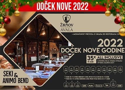 Etno restoran Žrnov Avala doček Nove godine 2022 Beograd