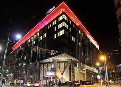 Hotel Hilton doček Nove godine 2022 Beograd