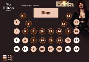 Hotel Hilton mapa sa rasporedom stolova za doček Nove godine 2022 Beograd