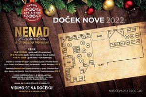 Kafana Druga Kuća mapa sa rasporedom stolova za doček Nove godine 2022 Beograd