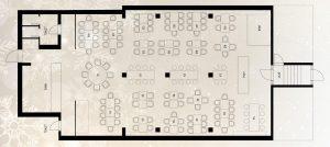 Restoran Dardaneli mapa sa rasporedom stolova za doček Nove godine 2022 Beograd