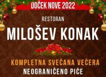 Restoran Milošev Konak doček Nove godine 2022 Beograd