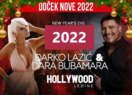 Svečana sala Hollywood Ledine doček Nove godine 2022 Beograd