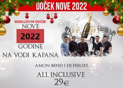Na Vodi Kafana doček Nove godine 2022 Beograd